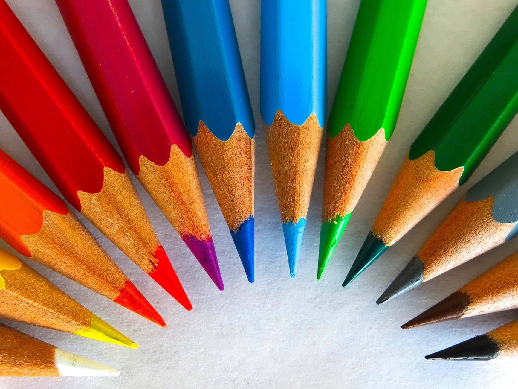pens colorful color paint