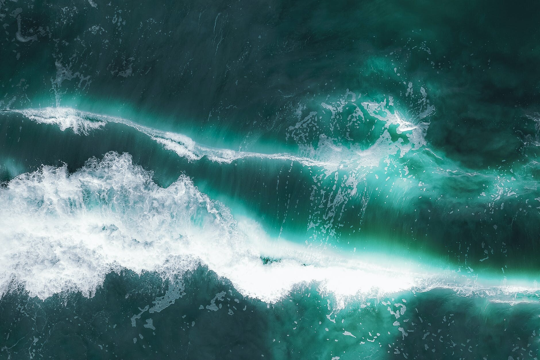 stormy sea with splashes and waves