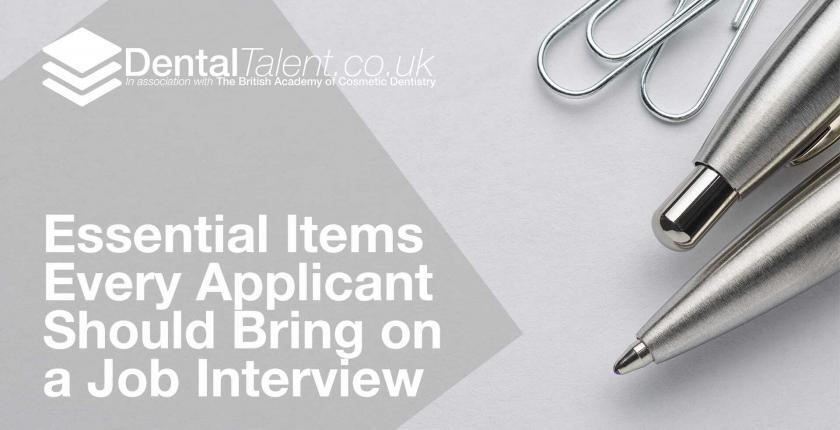 Essential Items Every Applicant Should Bring on a Job Interview