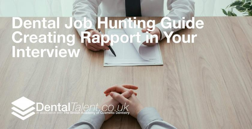 Dental Job Hunting Guide Creating Rapport in Your Interview